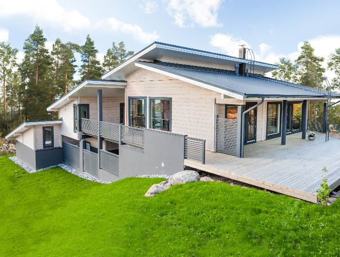 The Newest House In A Wider Witka House Collection. Reference House Villa  Helena Was Built In 2012. An Architectural Solution Suitable For Sloping  Ground.